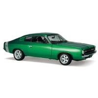 Classic Carlectables 1:18 1972 E38 Custom Charger – Green Metallic Opal 43-18544