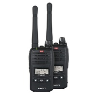 GME 2W UHF Transceiver TX677TP Twin Pack DC9049Compact and lightweight, featuring a flexible detachable antenna.