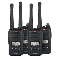 GME 2W UHF Transceiver TX677QP Quad Pack DC9050Compact and lightweight, featuring a flexible detachable antenna.