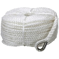 Pre-Made Anchor Lines - 6mm Rope x 50metre 3 Strand