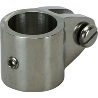 Canopy Tube Coupling Clamps - 316 S/Steel Suits 22mm Tube (With Grubscrew)