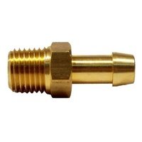 "Brass Fuel Fitting 1/4"" NTP to 8mm Barb"