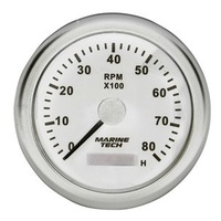 Tachometer Gauge 0-8000RPM 100mm White