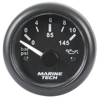 Oil Pressure Gauge - 0-10 Bar - Black