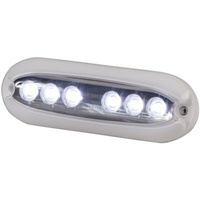 6X2W White Surface Mount Underwater LED Light 1000 Lumens