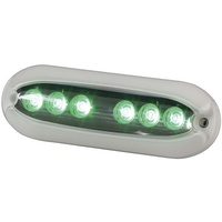 6X2W Green Surface Mount Underwater LED Light 1000 Lumens