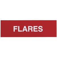 Adhesive Flares Sign 100x30mm