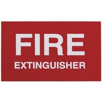 Adhesive Fire Extinguisher Sign 100x30mm