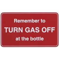 Adhesive Turn Off Gas Sign 100x60mm