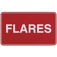 Adhesive Flares Sign 100x60mm
