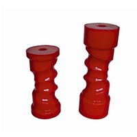 8IN SELF CENTERING ROLLER RED 17MM