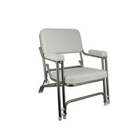 Delux Stainless Steel Folding Deck Chair