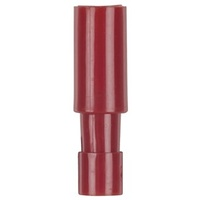 4mm Bullet Female - Red - Pk.8