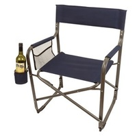 Blue Aluminium Directors Chair