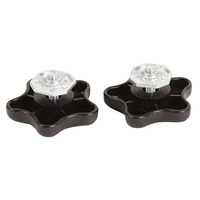 Black Carefree Brace Knobs 901022W