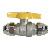 "Gas Fittings - 3/8"" BSP Flared Ball Valve"