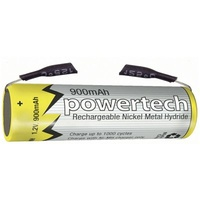 1.2V AAA 900mAh Rechargeable Ni-MH Powertech Battery - Solder Tab