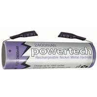 1.2V AA 2400mAH Rechargeable Ni-MH Powertech Battery - Solder Tag