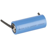 26650 Rechargeable Li-Ion Battery 3400mAh 3.7V Solder Tag