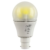 10W Dimmable Mains LED Light Globe, Natural White, Bayonet cap