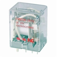 24VDC DPDT Relay - 10A 240VAC/24VDC Contacts