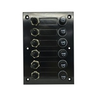 6 Gang SPST Switch Panel with Rubber Boots