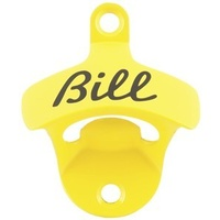 """Bill"" Bottle Opener - Yellow"