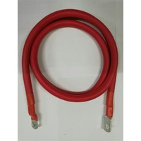 0 Gauge Tinned Battery Power Lead - Red - 1800mm
