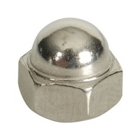 316 Two Piece Dome - Stainless Steel  - M5 	- Pack of 4