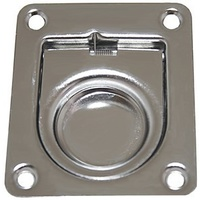Flush Pull - Stainless Steel Anti-Rattle - 44 x 38mm