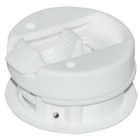 "Round Style Flush Latches - Fit up to 7/8"" Door White"