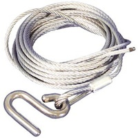 Cable Type Line - 6.0m (20ft) x 4mm Cable with 'S' Hook