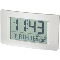 LCD Wall Clock with Calendar and Temperature Display