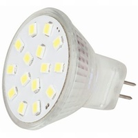 MR11 LED Replacement Light, 15x2385 LEDs, 120º, 12VAC/DC, Warm White
