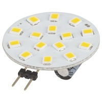 G4 LED Replacement Light,15x2835 LEDs, 120º 12VAC/DC, Warm White