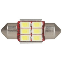 LED Festoon Globe, 31mm 6x5730 LEDs, CANBus Compatible