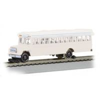 MP,BUS W/HIGH RAILERS WHITE,HIGH RAILER