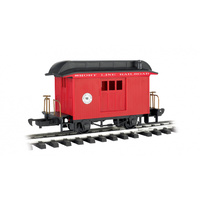 RS,BAG SHORT LINE RR RED W/BLK ROOF,