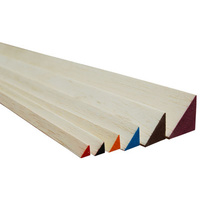 TRIANGLE BALSA 6.5x6.5x915mm RED