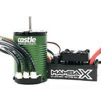 Castle Creations Mamba X SCT Pro Brushless ESC 1410-3800Kv, 25.2v Waterproof Combo