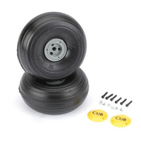 DUBRO 425TLC 1/4 SCALE TRED LIGHT J3 WHEELS (1 PAIR) DUBWH425TLC