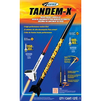 ESTES 1469 TANDEM-X (2 ROCKETS) INTERMEDIATE MODEL ROCKET LAUNCH SET