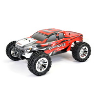 CARNAGE RED BRUSHED TRUCK W/BATT & CHARGER FTX-5537R