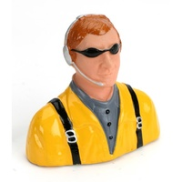 Hangar 9 1/7 Pilot-Civilian with Headset,Mic And Sunglasses - yellow