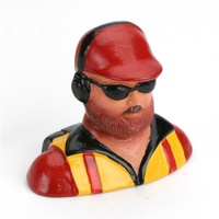 Hangar 9 1/6 Pilot - with Beard, Hat Headphones& Glasses