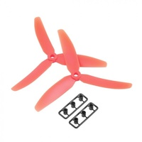 Helistar 5x3 3 blade Plastic Propeller CW/CCW for 250 Quadcopter (Red) Pr