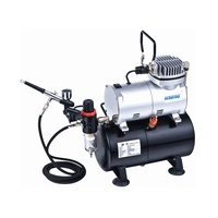 HSENG HS-AS186K AIR COMPRESSOR (HOLDING TANK) KIT INCL. HOSE and HS-80 AIRBRUSH