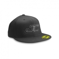 Flat Bill JC Flexfit Hat (S,M) - black