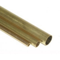 K&S 1146 ROUND BRASS TUBE .014 WALL (36IN LENGTHS) 5/32 (1 tube per bag x 5 bags)