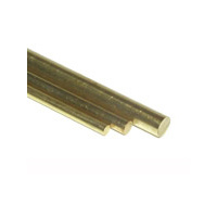 K&S 1163 SOLID BRASS ROD (36IN LENGTHS) 5/32IN  (1 rod per bag x 5 bags)
